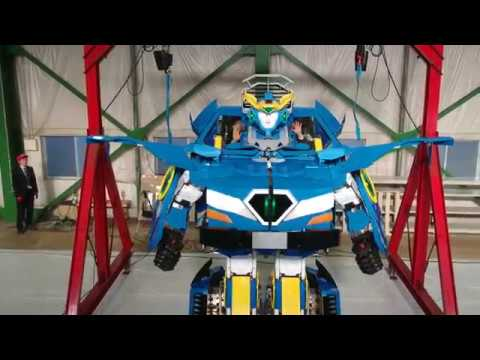 Transforming robots for rides at amusement parks