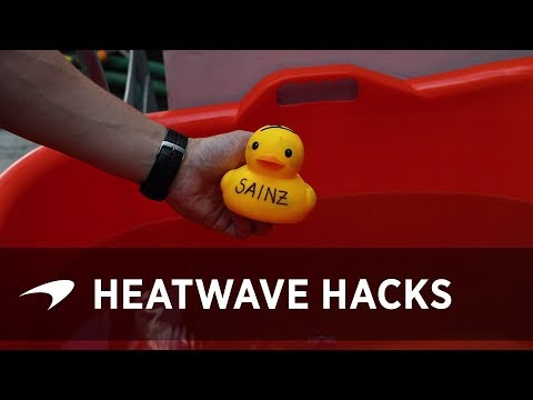 How to stay cool like an F1 driver #GermanGP