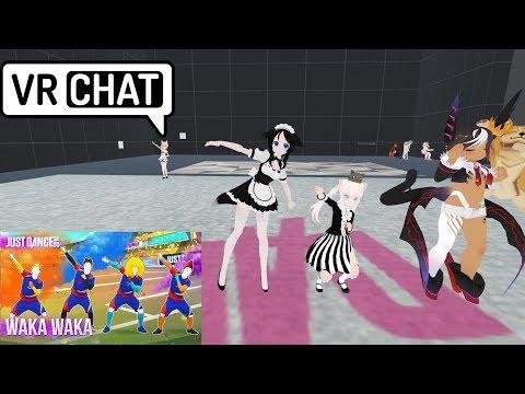 VRChat - (just dance) Waka Waka - смотреть онлайн на Hah Life