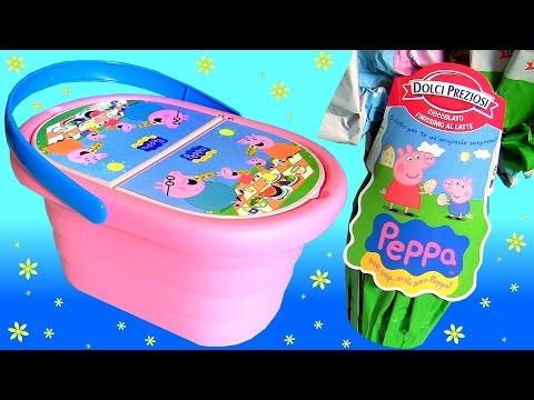 Giant Peppa Pig Mega Surprise Eggs Chupa Chups PlayDoh Picnic Basket Свинка Пеппа Чупа Чупс игрушки Mp3