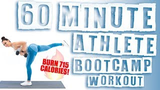 60 Minute Athlete Boot Camp With Dumbbells Workout 🔥Burn Calories! 🔥