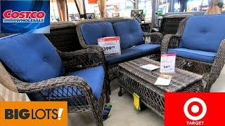 COSTCO BIG LOTS TARGET PATIO FURNITURE SOFAS CHAIRS HOME SHOP WITH ME SHOPPING STORE WALK THROUGH