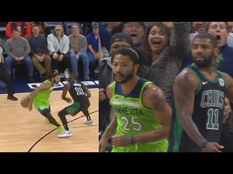 Derrick Rose Teaches Kyrie Irving With Crossover After He Reaches & Destroys Entire Celtics!