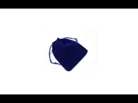 Saculet textil pentru cadouri din catifea cu snur, albastru, 12 x 14 cm