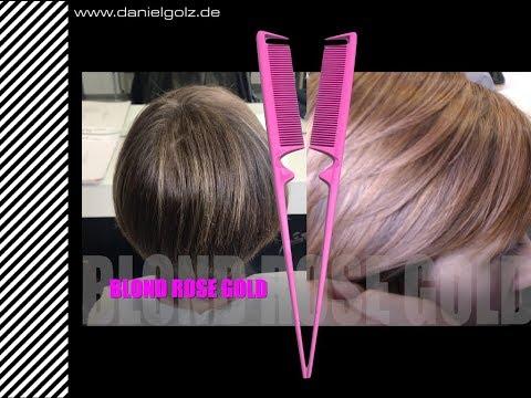 Rosegold-Blond + Stielkamm 4.1 PINK