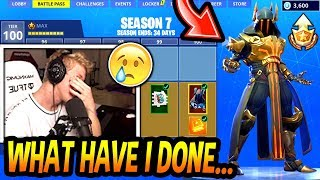 Tfue FINALLY *BUYS* The SEASON 7 BATTLE PASS! (MAX TIER LEVEL 100!) Fortnite FUNNY & EPIC Moments