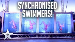 Synchronised swimmers perform in outdoor WATER TANK! | Unforgettable Audition | Britain's Got Talent