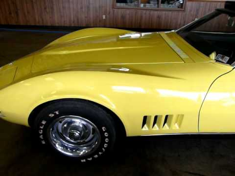 1968 Safari Yellow Corvette Stingray Convertible C3 Video
