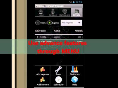 Video of Personal Financial Organizer