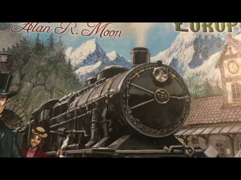 Ticket to ride: Europe 5p Playthrough 1 of 2