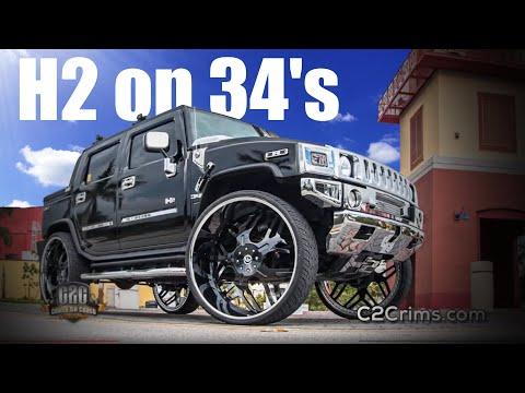 Hummer H2 on 34's FORGIATO's