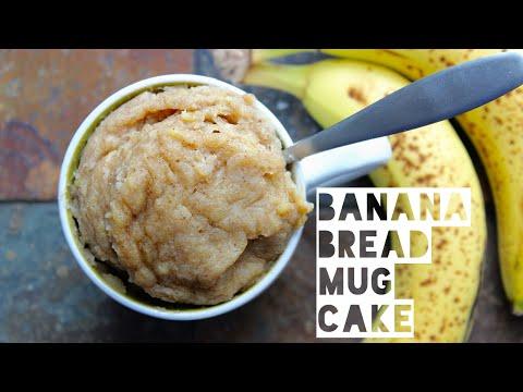 Video 1 Minute Banana Bread Mug Cake | Healthy Banana Bread Mug Cake Recipe