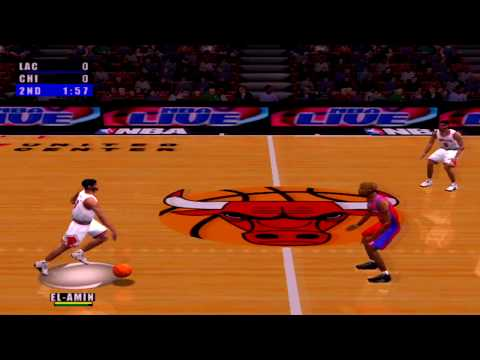 NBA Live 2001 Gameplay Chicago Bulls vs Los Angeles Clippers