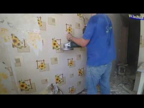 Демонтаж перегородки в хрущевке (ускоренно 20x) _ квартира студия из хрущевки (Серия 1)