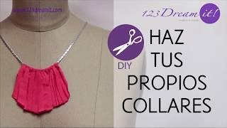 Haz un collar con retazos de tela