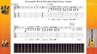 Norwegian Wood This Bird Has Flown - Beatles The - Guitar