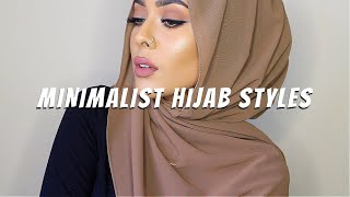 6 MINIMALIST HIJAB STYLES   Hijab Tutorial    MishaArtistry