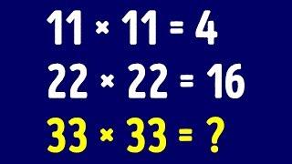 30+ простых загадок для любителей математики