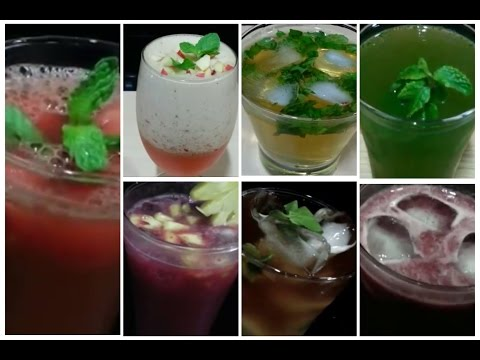 Video Best 7 ● Summer Drinks Recipes / Simple and Easy Summer Cooler Recipes/ How to Make Summer Drinks.