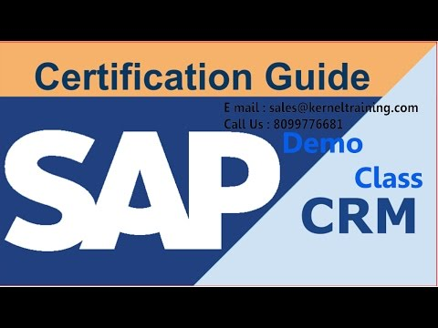 SAP CRM Functional Training Tutorial For Beginners - YouTube