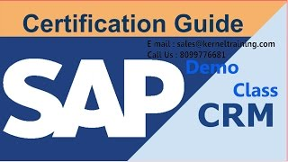 SAP CRM Functional Training Tutorial For Beginners