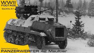 Panzerwerfer / Nebelwerfer Footage.