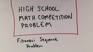 Please subscribe for more 'Can You Solve it' problems! Solutions will also be posted!A high school math competition problem dealing with the Fibonnaci sequence.