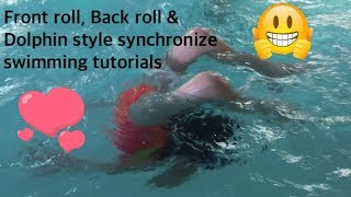 Synchronize swimming tutorials | how to synchronize swimming