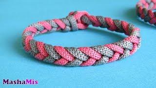 Плести браслет из шелкового шнура