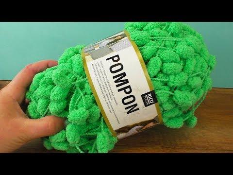 Häkel Experiment   Pompon Wolle im Test   Schal aus einem Knäul Wolle   Rico Design