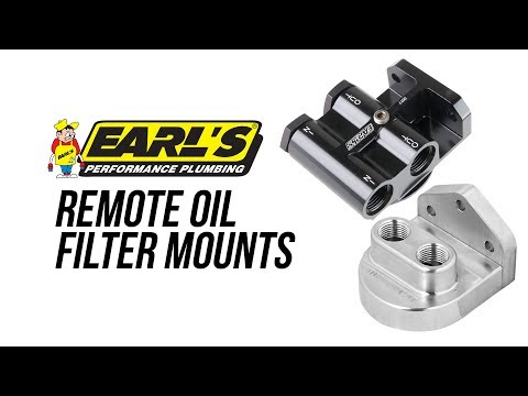 Earl's Remote Oil Filter Mounts