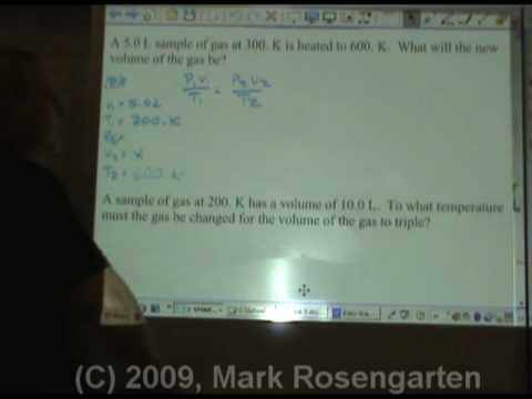 Solving Boyles and Charles Gas Law Problems