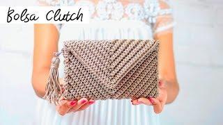 Bolsa De Crochê - Bolsa Carteira Estilo Envelope - Crochet Bag