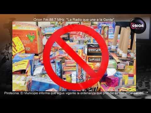 Pirotecnia: El Municipio informa que sigue vigente la ordenanza que prohíbe su comercialización.