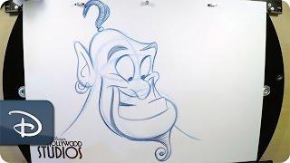 How-To Draw Aladdin's Pal, Genie | Disney's Hollywood Studios