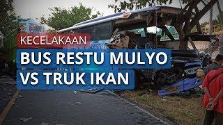 Video Kecelakaan Bus Restu Mulyo dan Truk Angkut Ikan di Paiton