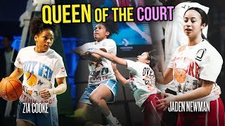 Jaden Newman vs Zia Cooke In Greatest Queen Of The Court Game EVER! All These Girls Got BEEF!!