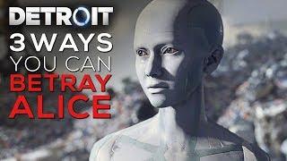 3 Ways Kara can Betray Alice (Evil Kara Endings) - DETROIT BECOME HUMAN