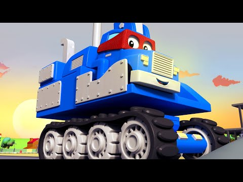 SUPER TRUCK EXCAVATOR - Carl the Super Truck becomes an Excavator to save Car City Children Cartoon