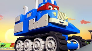 SUPER TRUCK EXCAVATOR - Carl the Super Truck becomes an Excavator to save Car City Children Cartoon