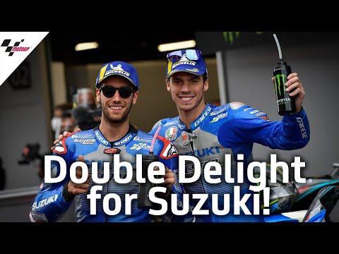 2位,3位に入賞したSUZUKIのミルとリンス。MotoGP カタルーニャGPのSUZUKIライダーの活躍を集めたダイジェスト動画