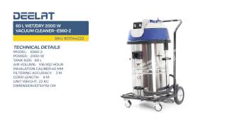 60 L Wet/Dry 2000 W Vacuum Cleaner--ES60-2
