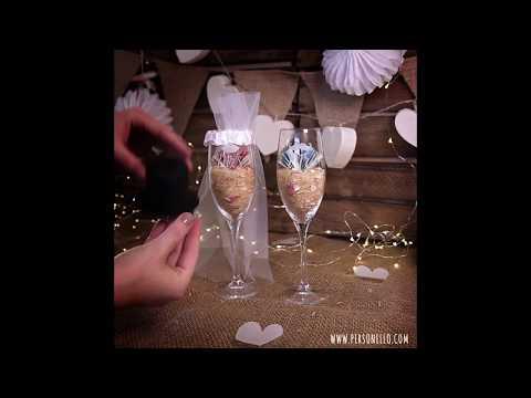 Sektgläser als Geldgeschenk zur Hochzeit   Gelgeschenke originell verpacken