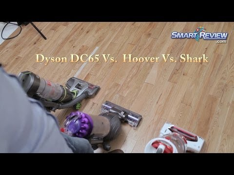 Dyson Demo | Dyson DC65 Animal Vacuum vs. Hoover Air Pro vs. Shark Rotator | Upright Bagless Vacuums