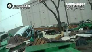 Japanese Tsunami Viewed From A Car