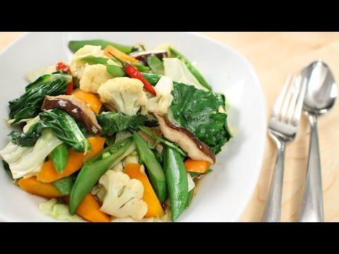 Thai Mixed Veg Stir-Fry Recipe ผัดผักรวม – Hot Thai Kitchen!