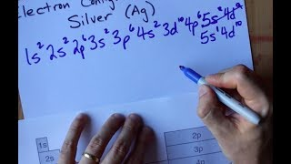 Write the Electron Configuration of Silver (Ag and Ag+)