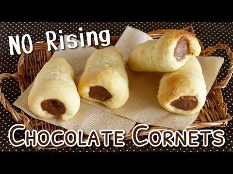 NO Rising Chocolate Cornets! QUICK Dairy-Free Soy Custard Tofu Buns Recipe   OCHIKERON
