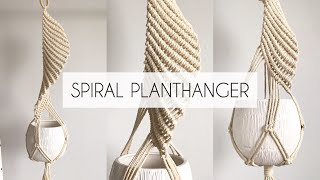 How To Make A Spiral Planthanger |  DIY Macrame Plant Hanger | (step-by- Step)