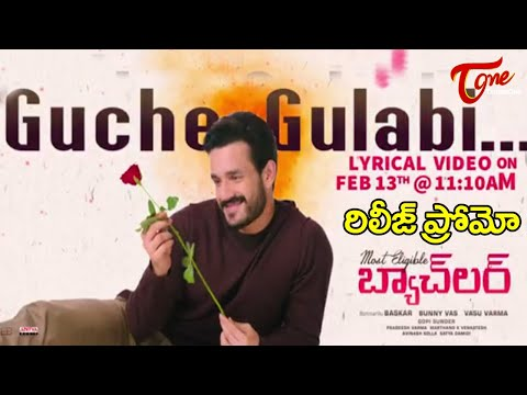 most​ eligible Bachelor Guche gulabi Lyrical video Release On Feb 13th TeluguOne Cinema